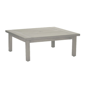club aluminum square coffee table in oyster
