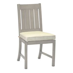 club/croquet aluminum side chair in oyster – frame only