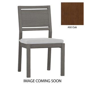 avondale aluminum side chair in oak – frame only