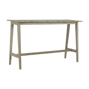 coast bar table in oyster teak