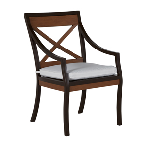 belize arm chair in mahogany – frame only