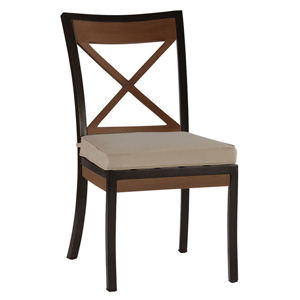 belize side chair in mahogany – frame only
