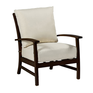 charleston lounge chair in mahogany – frame only
