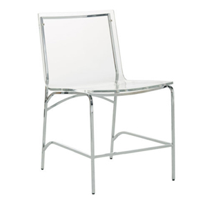 claro dining chair in stainless/acrylic