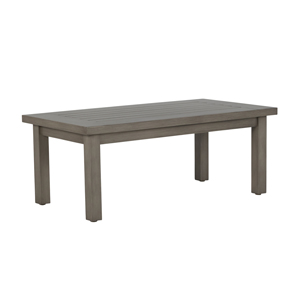 club aluminum rectangular coffee table in oyster
