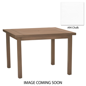 club aluminum square dining table in chalk