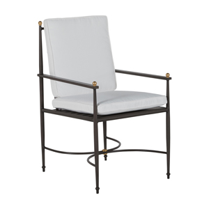 roma arm chair in slate grey – frame only