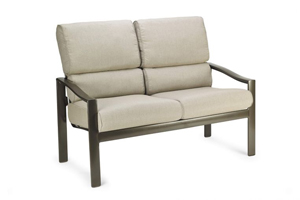 belvedere cushion stationary love seat